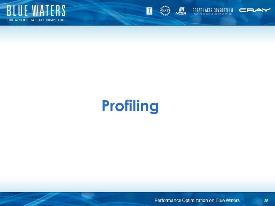 Profiling 38 Performance Optimization on Blue Waters