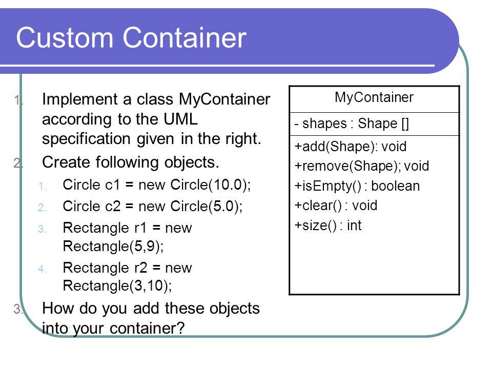 Custom Container 1.
