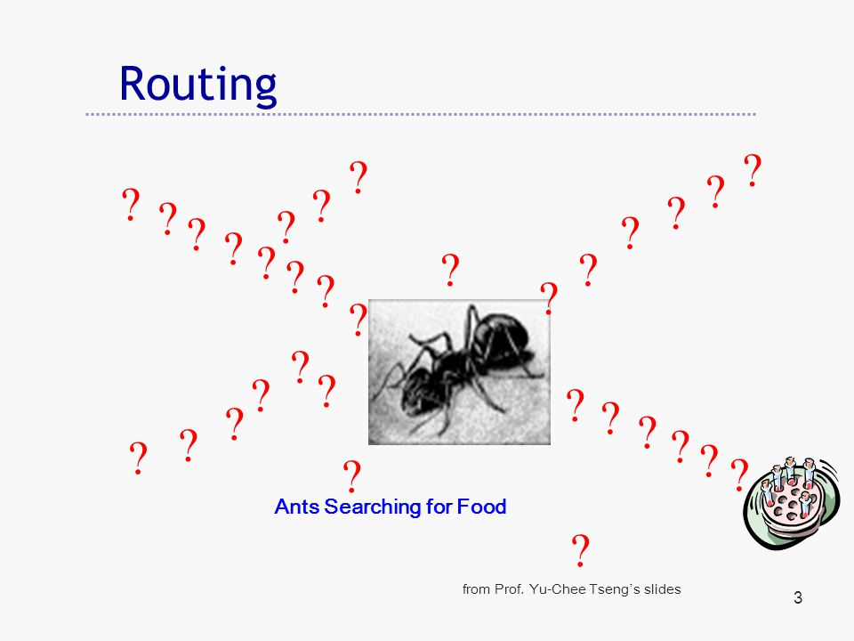 3 Routing . Ants Searching for Food from Prof.