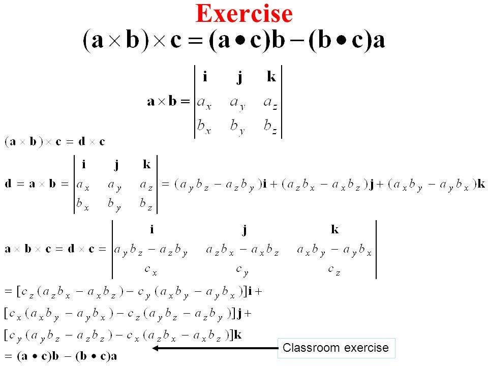 Exercise Classroom exercise