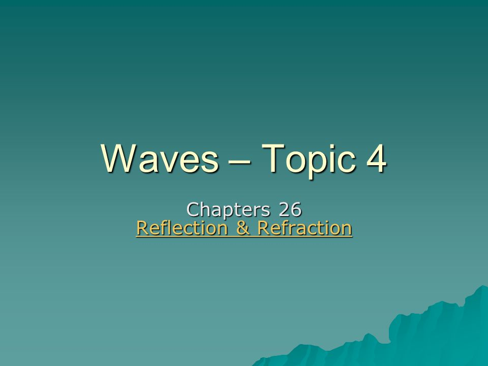 Reflection  Law of Reflection –The angle of incidence equals the angle of reflection  The incident and reflected rays lie in the same plane with the normal.