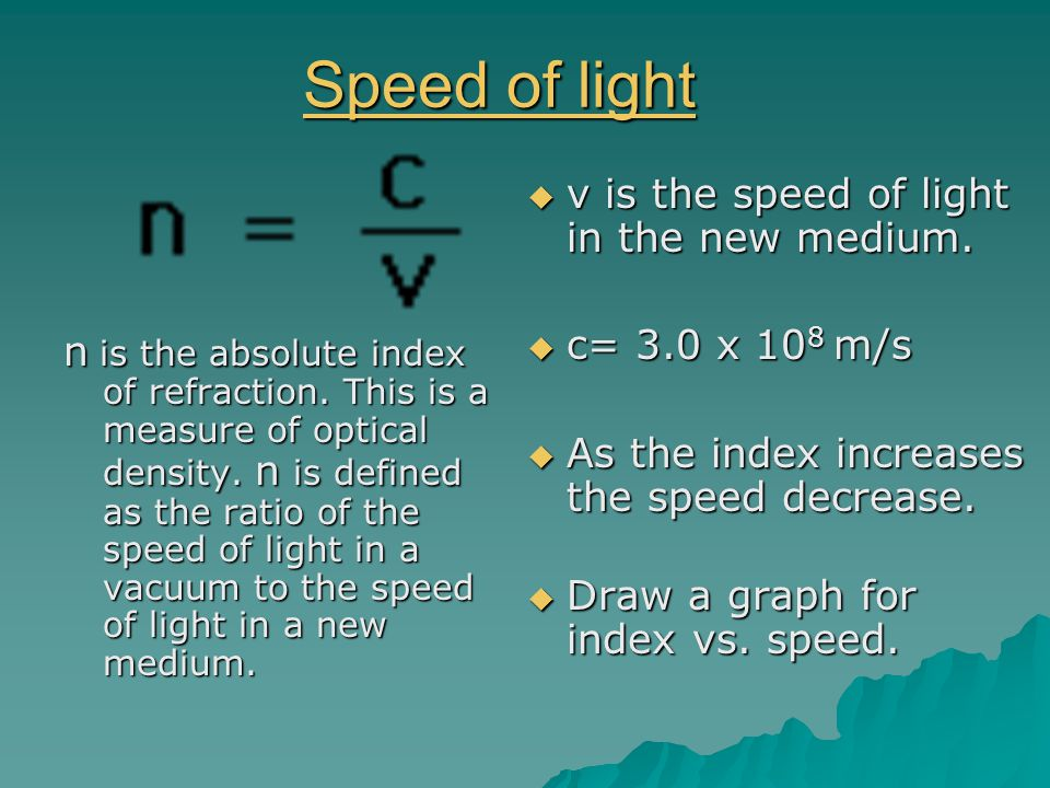 Refractive & Frequency Refractive & Frequency  The refractive index depends on the medium & the frequency of light.