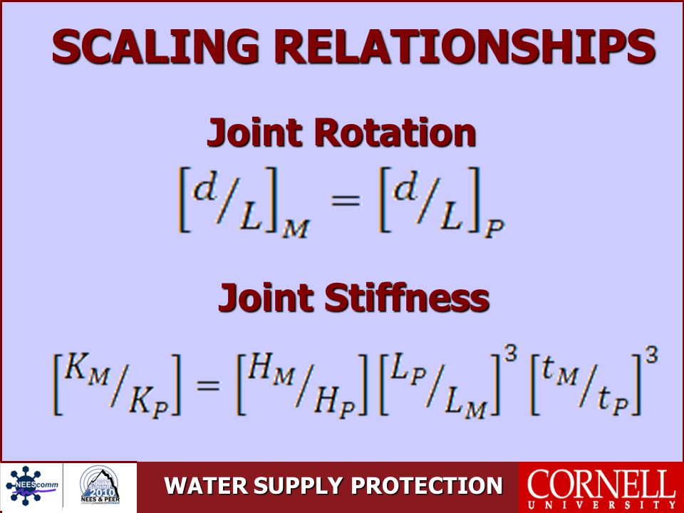 SCALING RELATIONSHIPS Joint Rotation Joint Stiffness