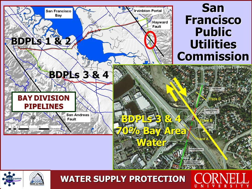 WATER SUPPLY PROTECTION BAY DIVISION PIPELINES BDPLs 3 & 4 70% Bay Area Water San Francisco Public Utilities Commission BDPLs 1 & 2 BDPLs 3 & 4
