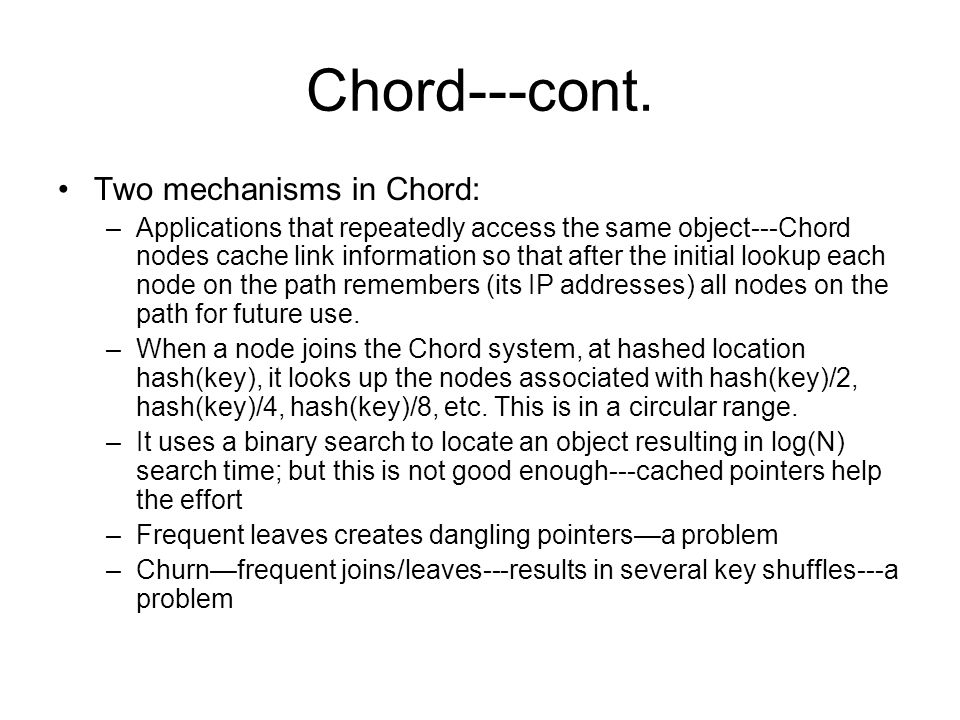 Chord---cont.