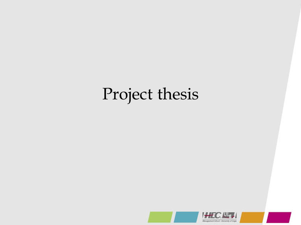 Project thesis