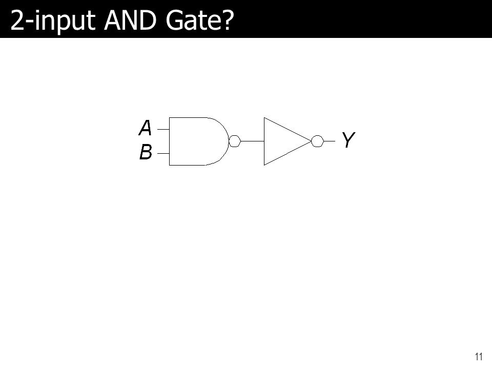 2-input AND Gate? 11