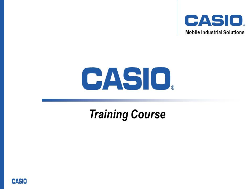 Mobile Industrial Solutions Training Course