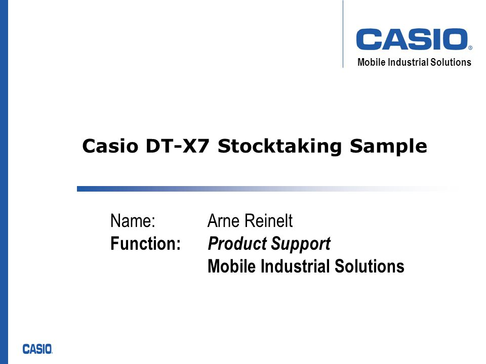 Mobile Industrial Solutions DT-X7 Stocktaking Sample Upload data to PC