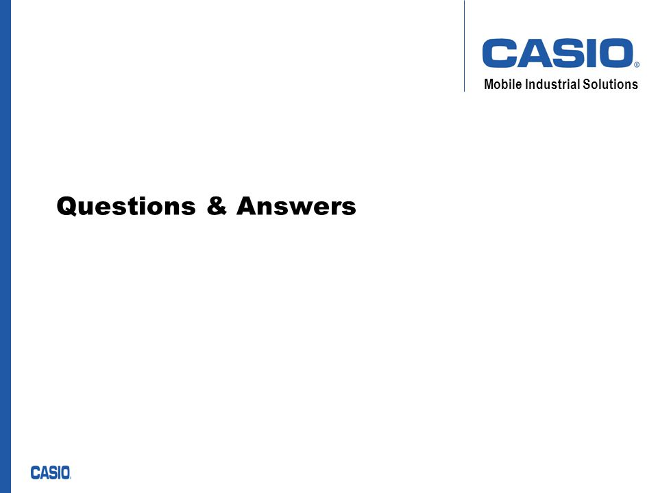 Mobile Industrial Solutions Questions & Answers