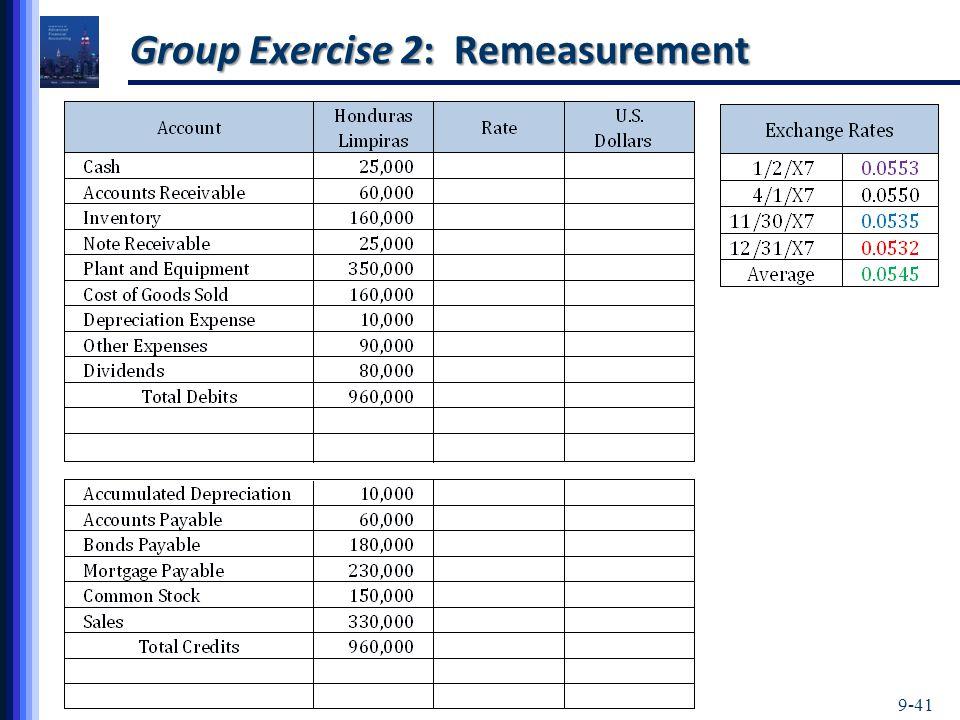 9-41 Group Exercise 2: Remeasurement