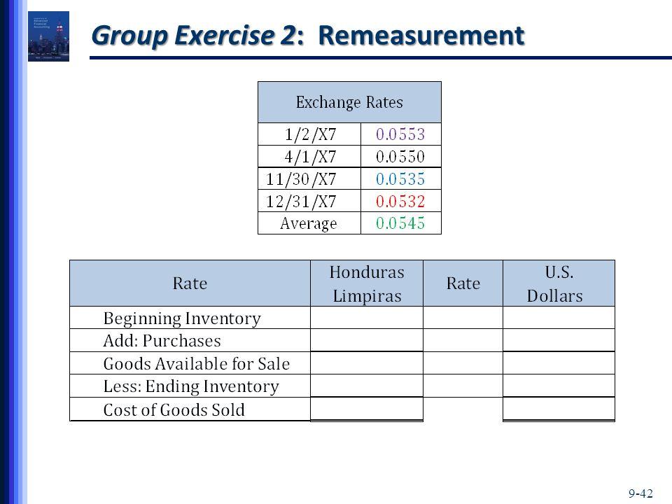 9-42 Group Exercise 2: Remeasurement