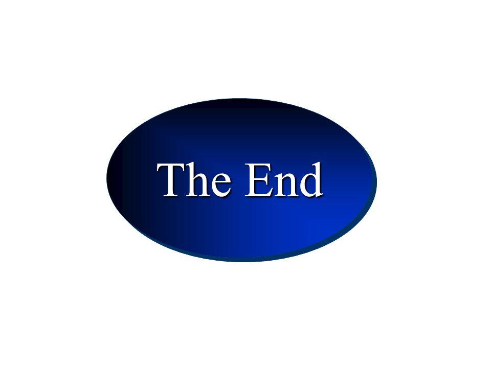 Conclusion The End