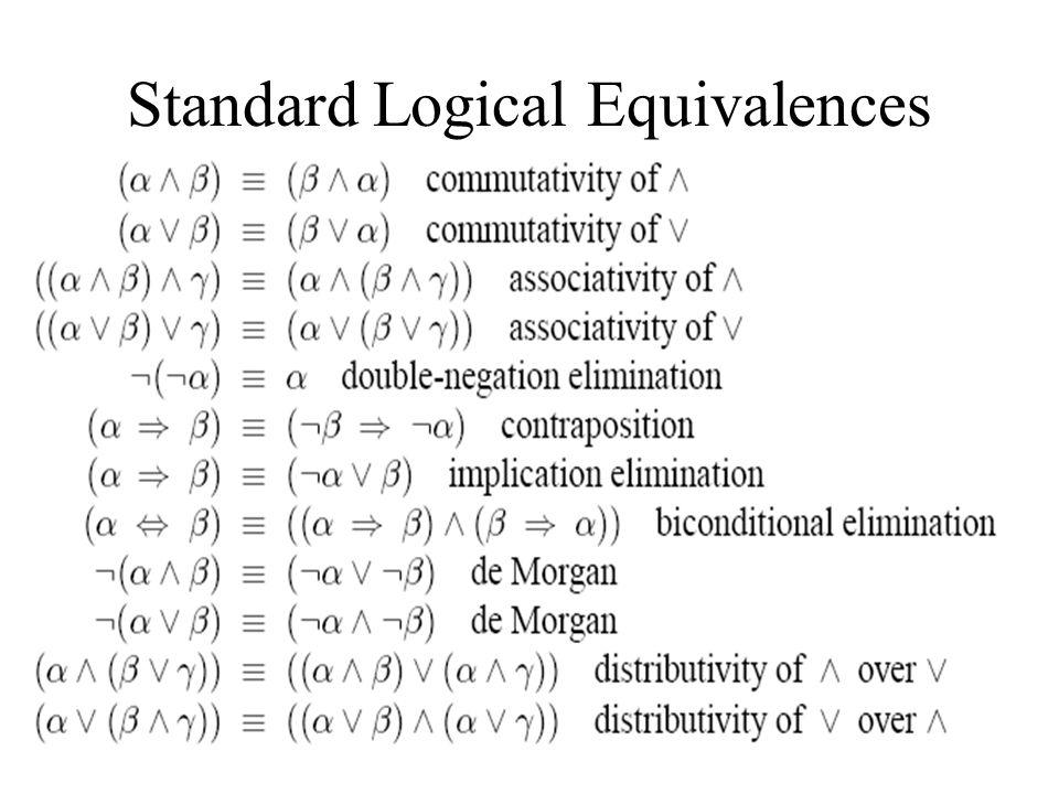 Standard Logical Equivalences
