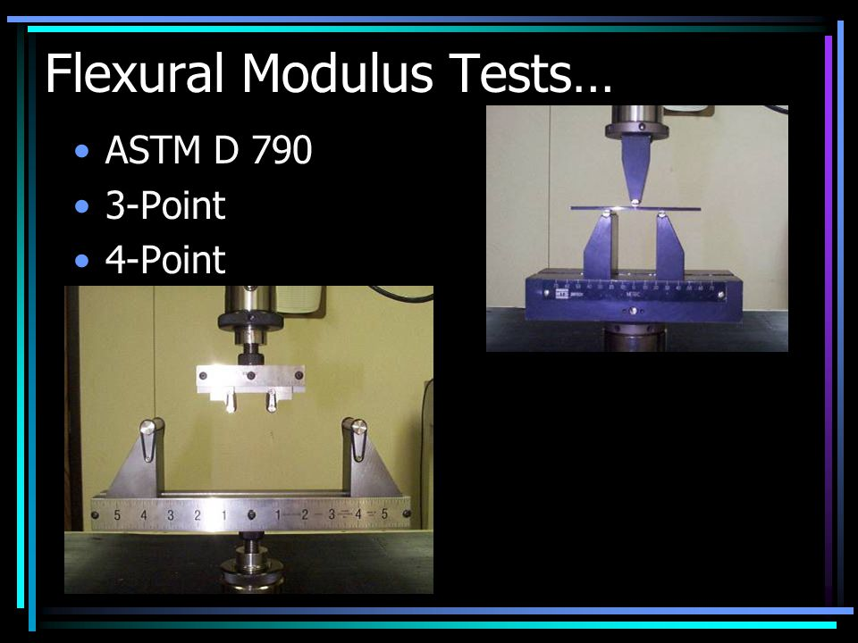 Flexural Modulus Tests… ASTM D 790 3-Point 4-Point