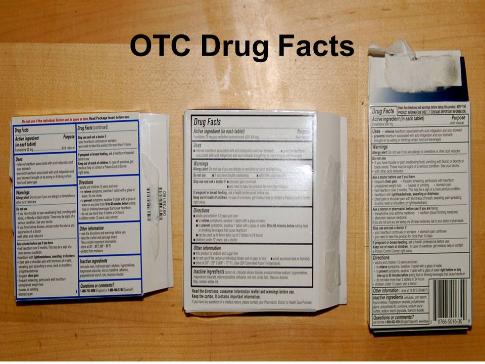 OTC Drug Facts