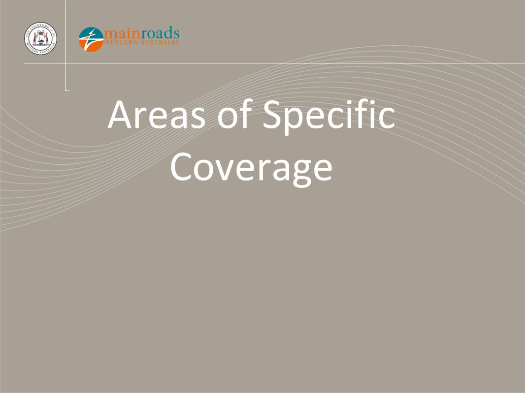 Areas of Specific Coverage