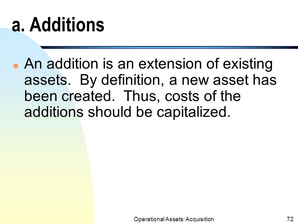 Operational Assets: Acquisition71 D.