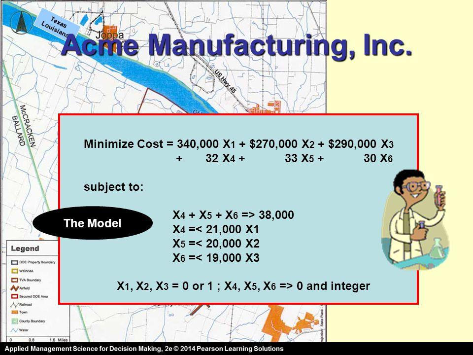 Texas Louisiana Acme Manufacturing, Inc.