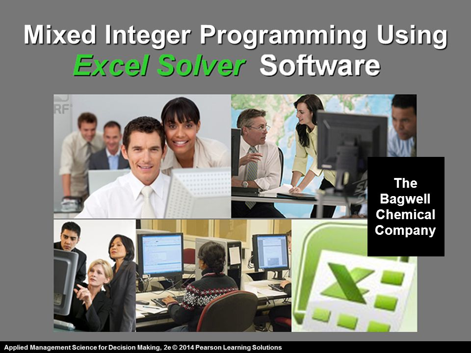 Mixed Integer Programming Using The Bagwell Chemical Company