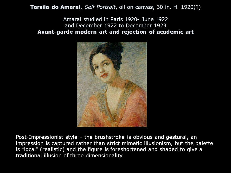 Tarsila do Amaral, Self Portrait, oil on canvas, 30 in.