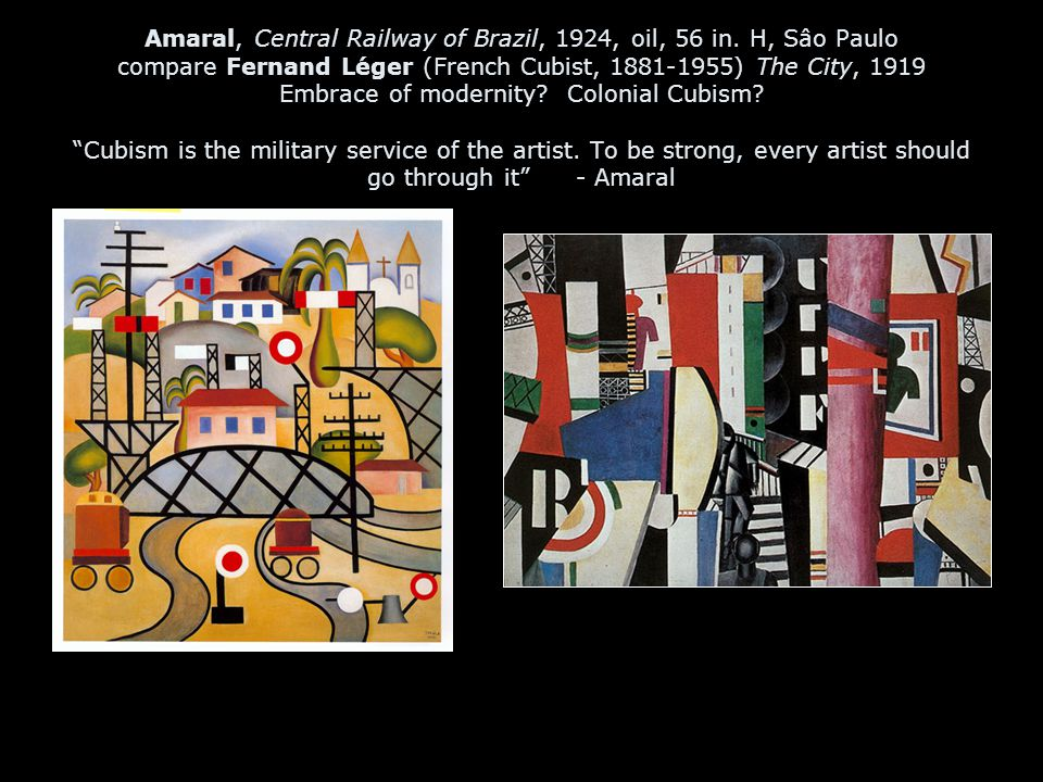 Amaral, Central Railway of Brazil, 1924, oil, 56 in.