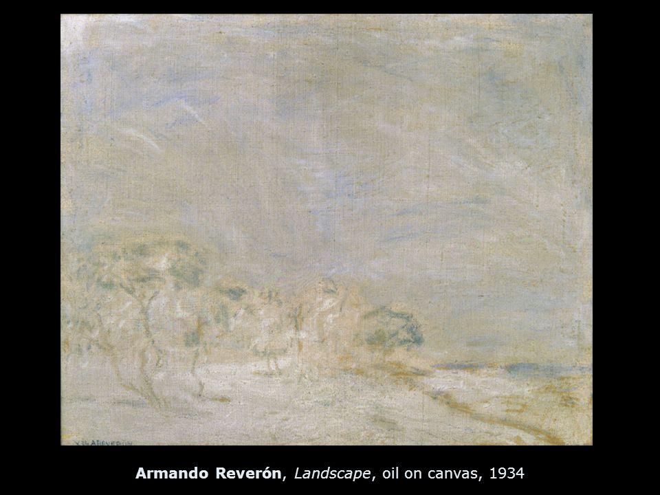 Armando Reverón, Landscape, oil on canvas, 1934