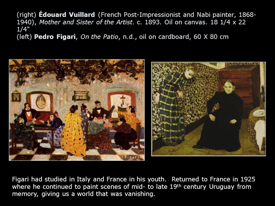 (right) Édouard Vuillard (French Post-Impressionist and Nabi painter, 1868- 1940), Mother and Sister of the Artist.