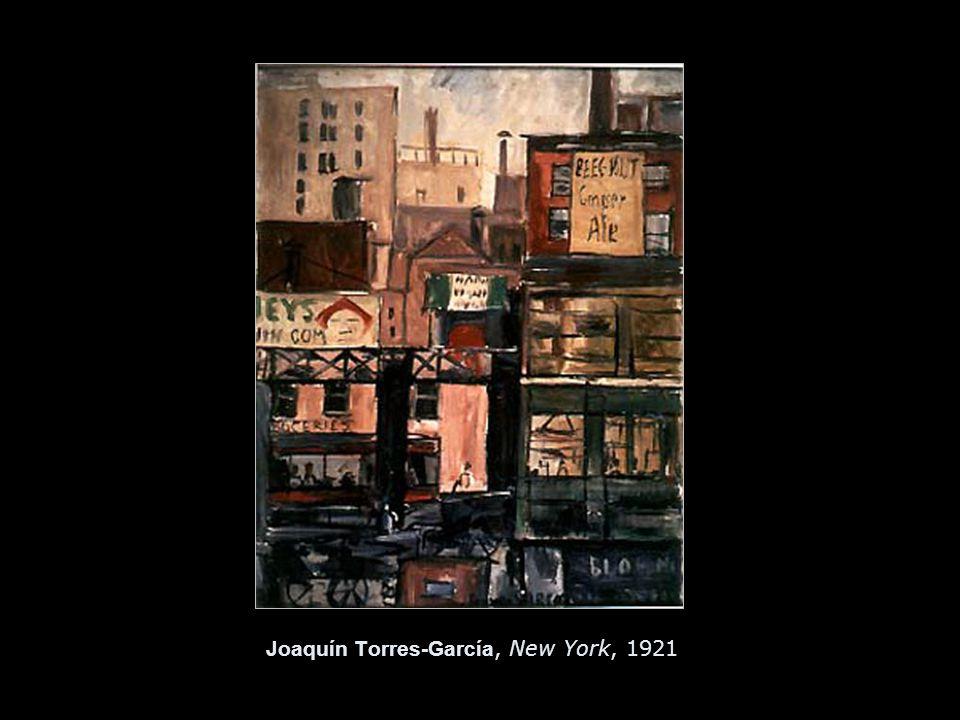 Joaquín Torres-García, New York, 1921