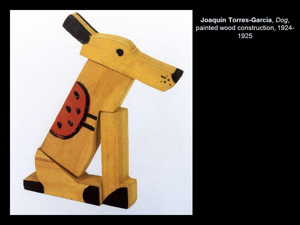 Joaquín Torres-García, Dog, painted wood construction, 1924- 1925