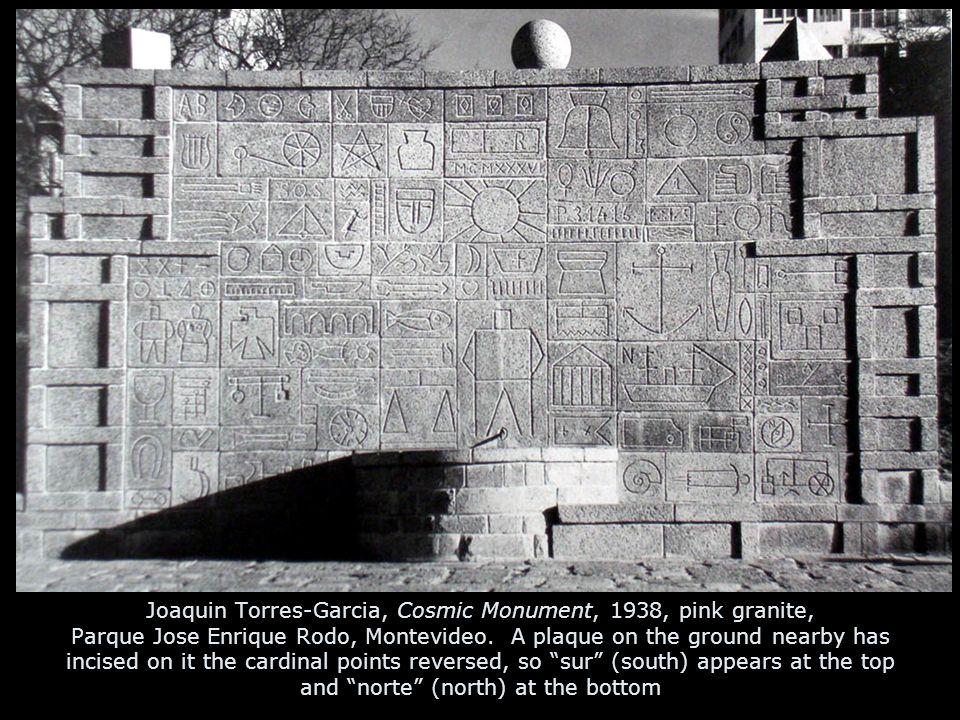 Joaquin Torres-Garcia, Cosmic Monument, 1938, pink granite, Parque Jose Enrique Rodo, Montevideo.