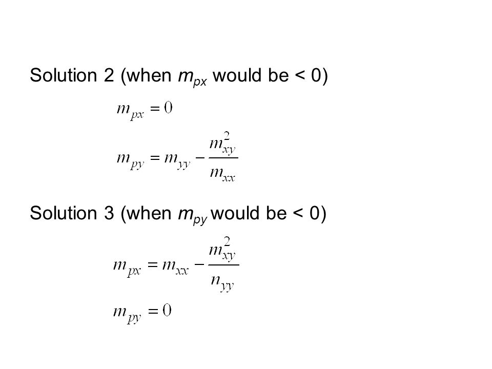 Solution 2 (when m px would be < 0) Solution 3 (when m py would be < 0)