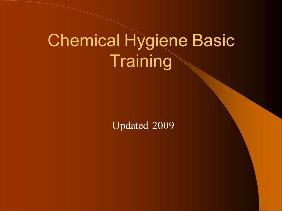 Chemical Hygiene Basic Training Updated 2009