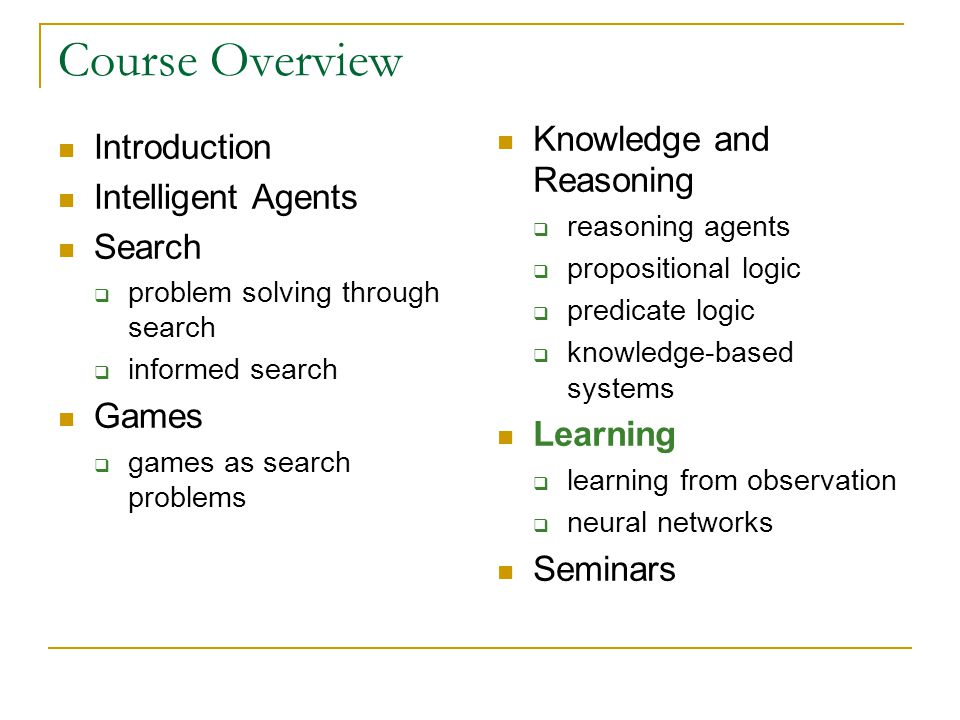 Components Learning Agent learning element performance element critic problem generator