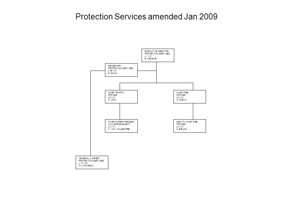 Protection Services: Traffic - amended Jan 2009 TRAFFIC OFFICER L8/7 – X8 1 L.A.