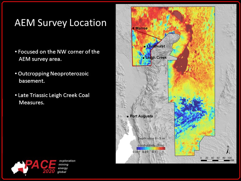 AEM Survey Location Focused on the NW corner of the AEM survey area.