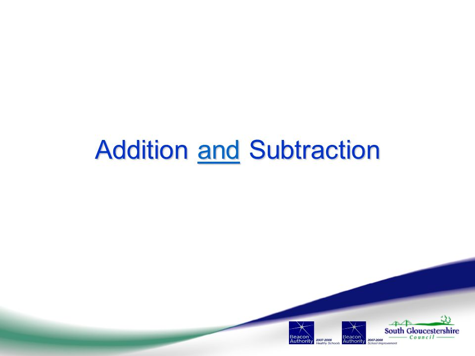 Addition and Subtraction and