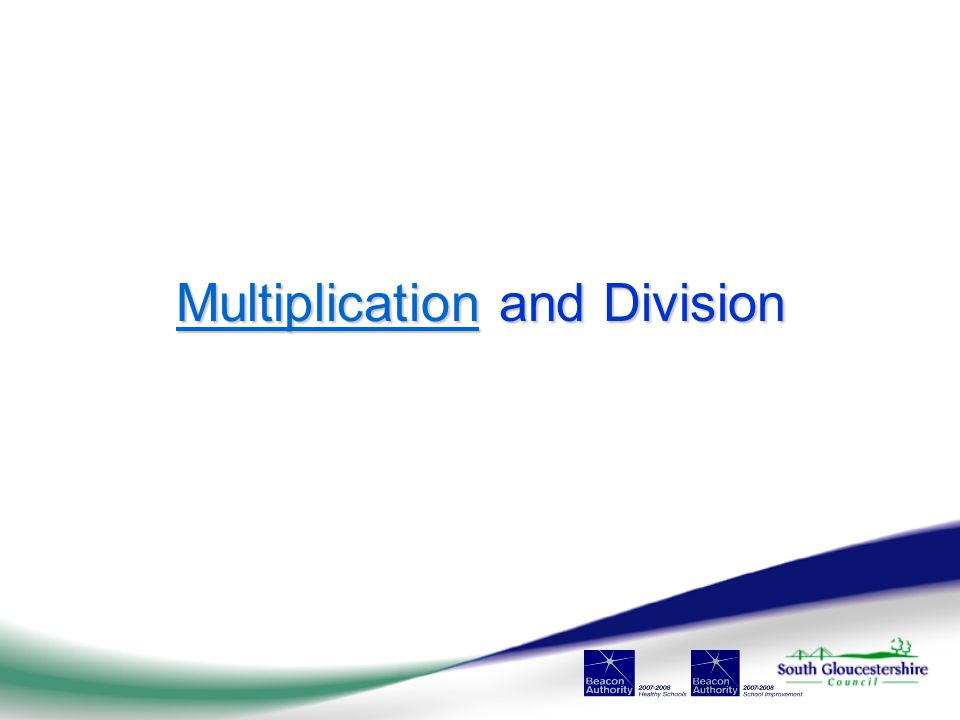 MultiplicationMultiplication and Division Multiplication
