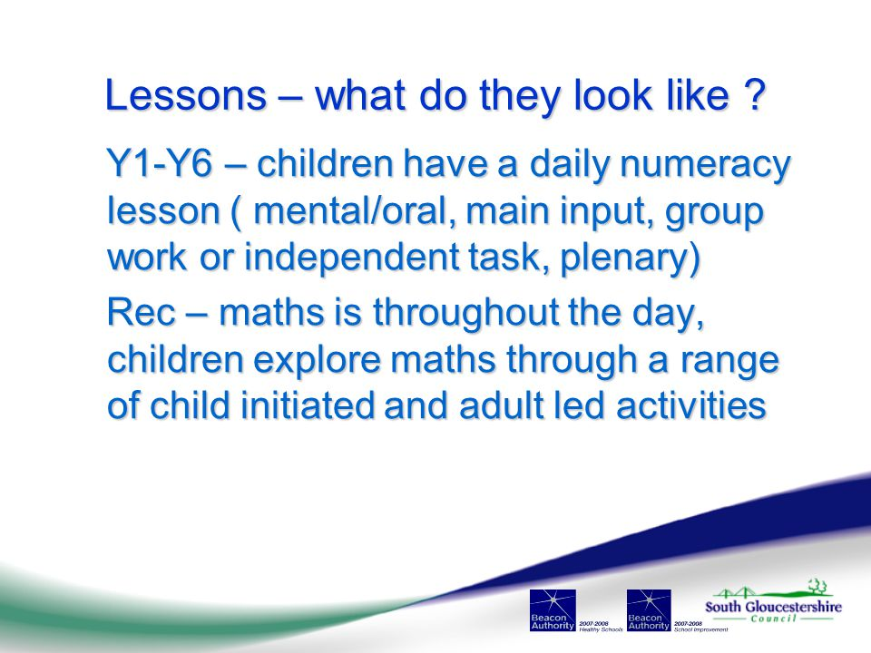 Lessons – what do they look like .
