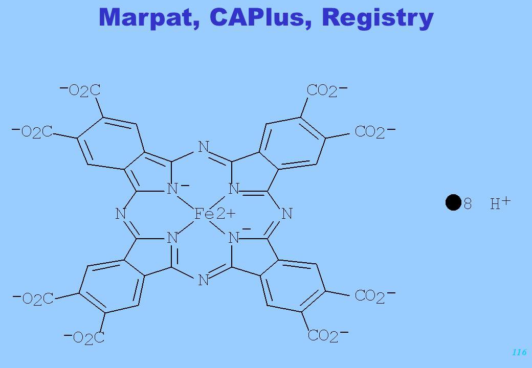 116 Marpat, CAPlus, Registry