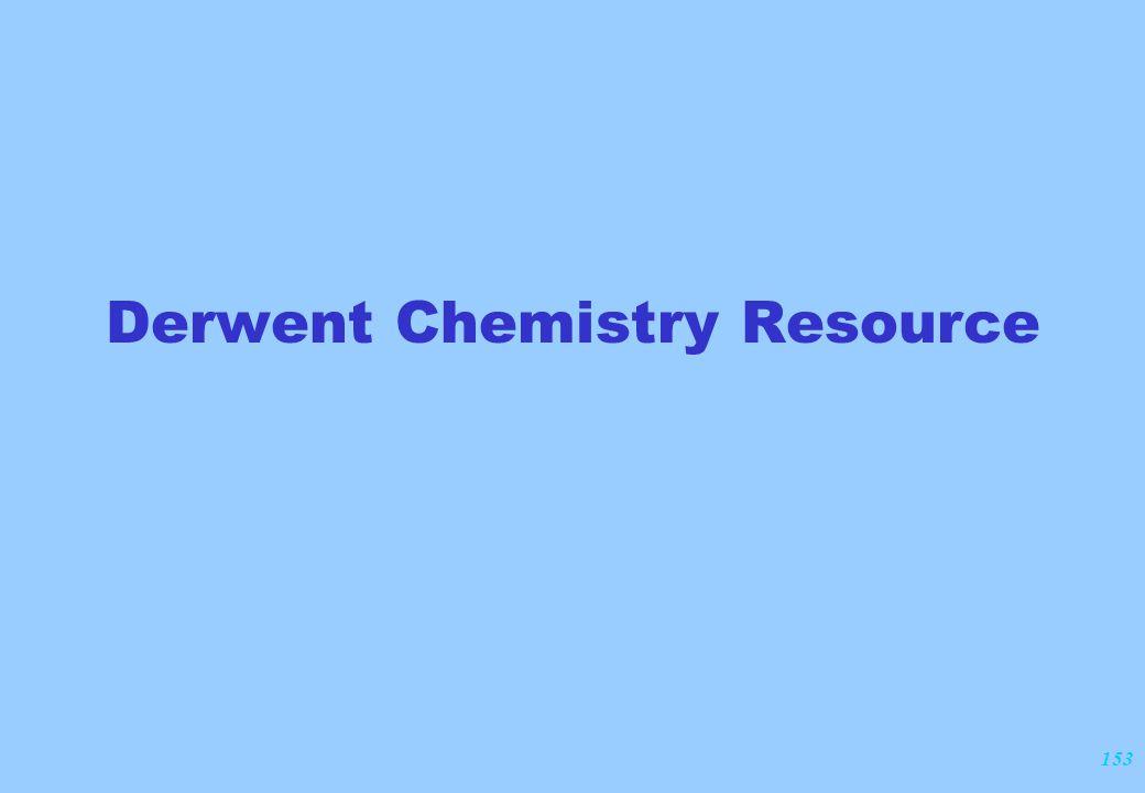 153 Derwent Chemistry Resource