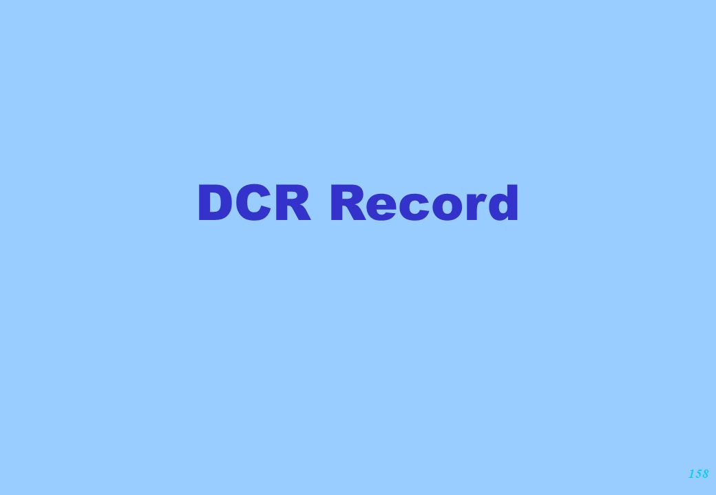 158 DCR Record