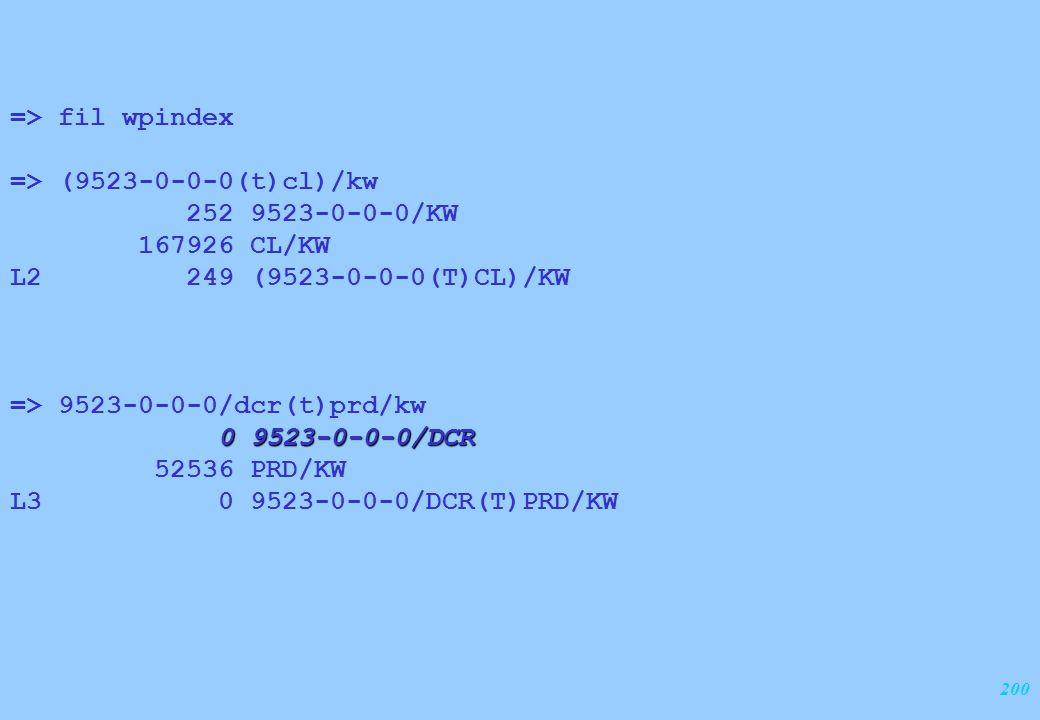 200 => fil wpindex => (9523-0-0-0(t)cl)/kw 252 9523-0-0-0/KW 167926 CL/KW L2 249 (9523-0-0-0(T)CL)/KW => 9523-0-0-0/dcr(t)prd/kw 0 9523-0-0-0/DCR 5253