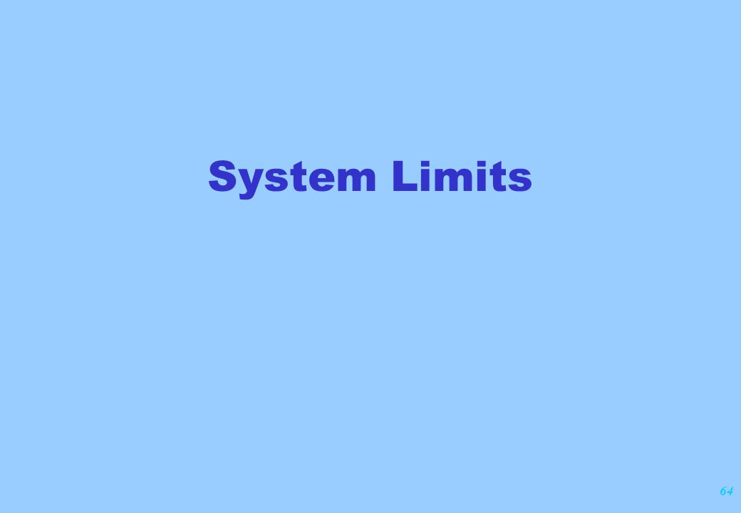 64 System Limits