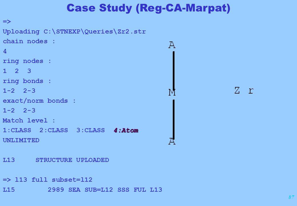 87 => Uploading C:\STNEXP\Queries\Zr2.str chain nodes : 4 ring nodes : 1 2 3 ring bonds : 1-2 2-3 exact/norm bonds : 1-2 2-3 Match level : 4:Atom 1:CL