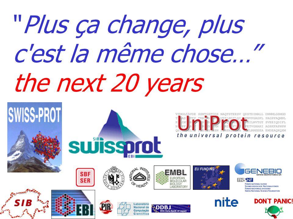 Plus ça change, plus c est la même chose… the next 20 years