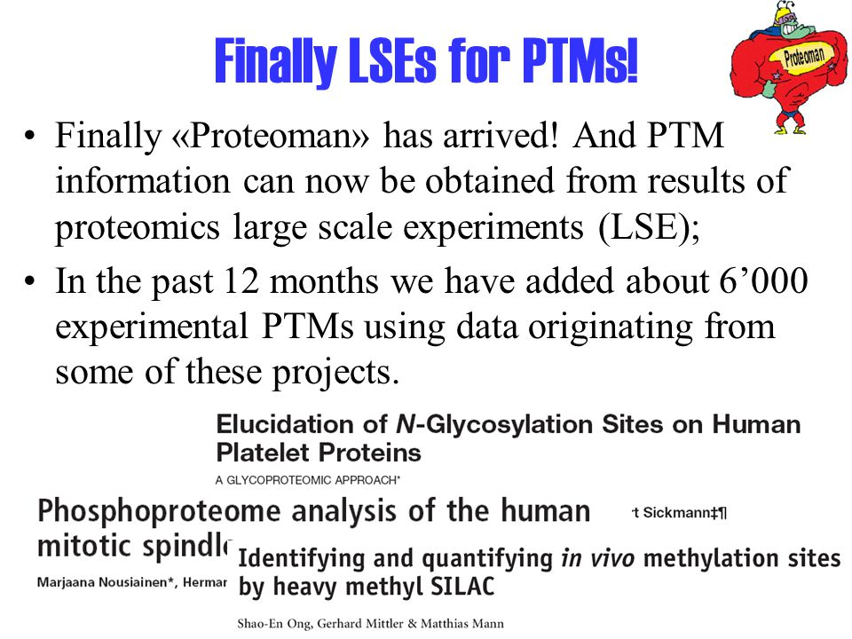 Finally LSEs for PTMs. Finally «Proteoman» has arrived.