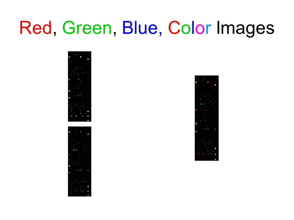 Red, Green, Blue, Color Images