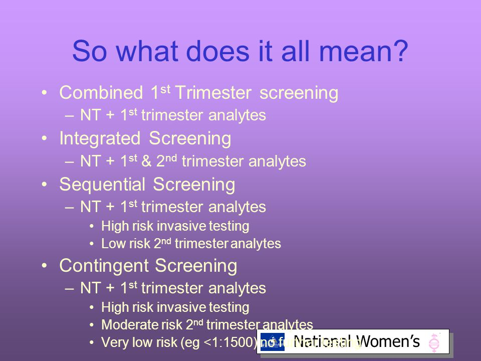 National Women's So what does it all mean.