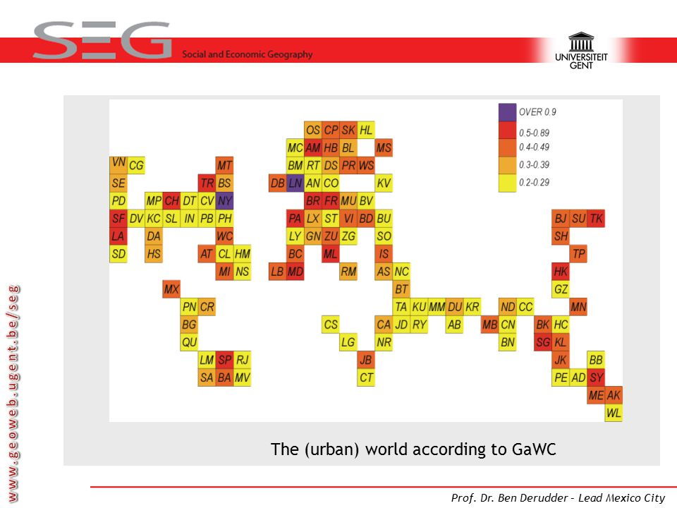 The (urban) world according to GaWC
